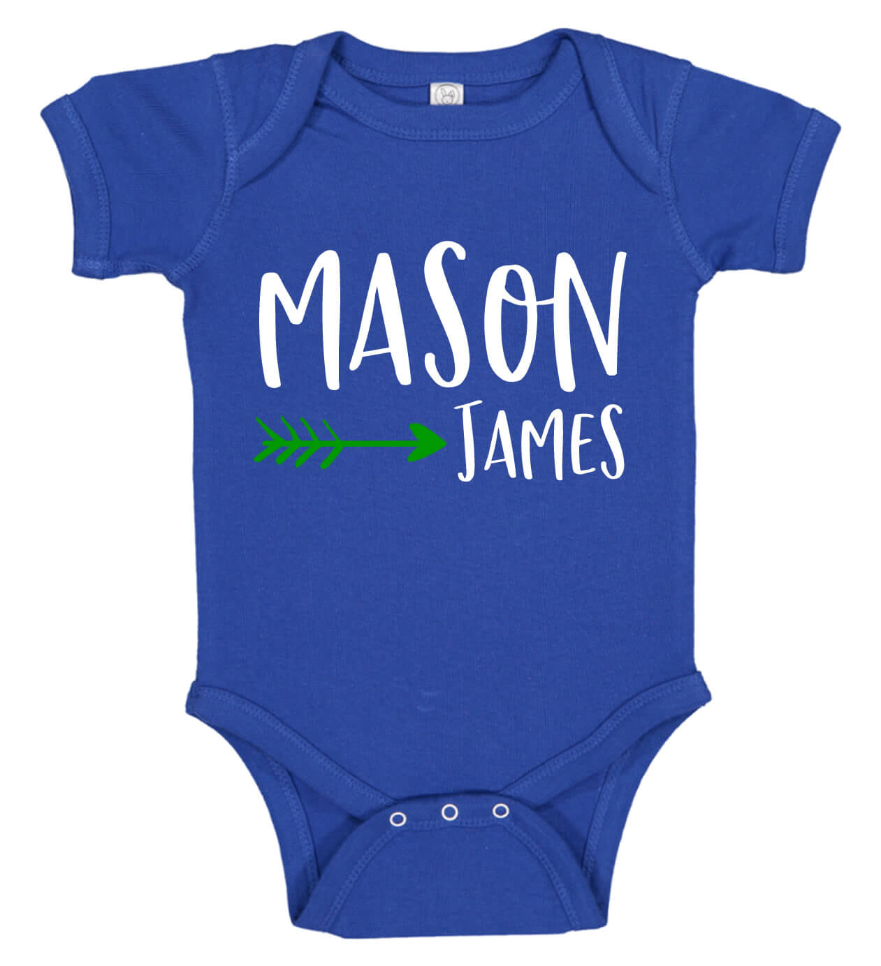 Baby Boy Onesie with Name & Arrow | Personalized Babies