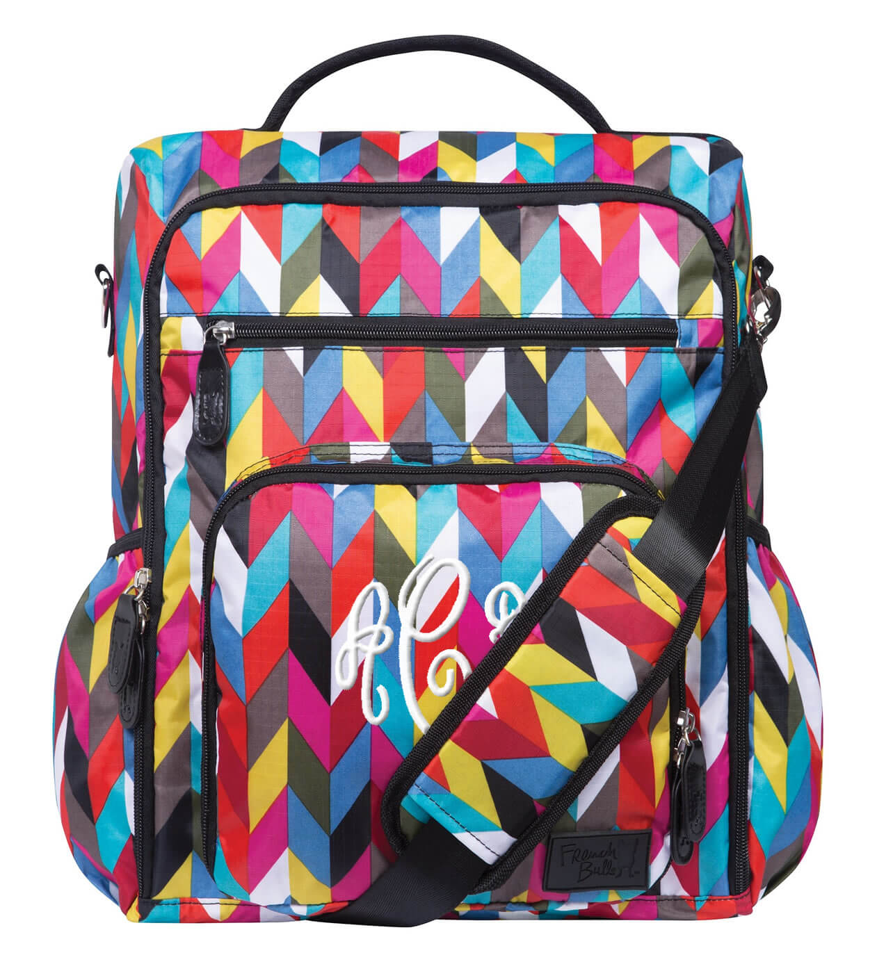 Personalized Zig Zag Messenger Bag