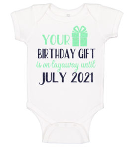 Your Christmas Present Is On Layaway Christmas Pregnancy Announcement bodysuit Pregnancy Announcement Reveal Onesie/® Best gift ever Family Baby Reveal